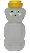 Mann Lake CN535 24-Pack Opaque Plastic Panel Bear with Yellow Flip Tops, 350ml