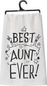 Primitves By Kathy Tea Towel - Best Aunt Ever