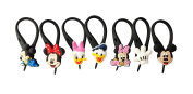 7 pcs Mickey Mouse Friends # 4 Glass Charms Wineglass Drink Marker