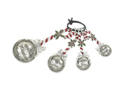 Ganz 4-Piece Holiday/Christmas Measuring Spoons Set - Candy Cane