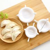 Dealglad 3pcs Dough Empanada Pastry Pie Ravioli Dumpling Mould Press Clip Mould Maker Kitchen Tool 7cm