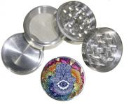 Hamsa Design Indian Aluminium Spice Herb Grinder Item # G123114-0010