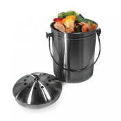 Sorbus® Stainless Steel 3.8l Compost Bin