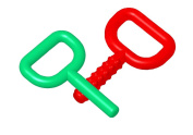Chewy Tubes Super Chew Knobby, 2 Pack - Green/Red