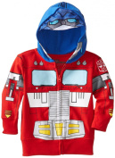 Optimus Prime Transformers Toddler Zip Up Costume/Mask Hoodie Hooded Sweatshirt