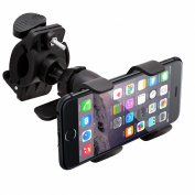 Intek Tough Bike Mount for iPhone 6 Plus 5 5S 5C 4 4S iPod Touch Galaxy S6 S5 S4 Note 4 Note 3 LG G4 HTC One Nokia Lumia Google Nexus Sony Xperia - Retail Packaging - Lifetime Warranty Included