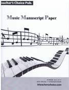 Music Manuscript Paper - 20 Pages, Wide Space