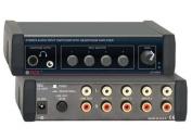 RADIO DESIGN LAB EZ-HSX4 STERO AUDIO INPUT SWITCHER W/HEADPHONE AMP 4X1