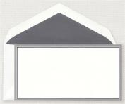 Crane & Co. Charcoal and Navy Border Monarch Correspondence Card