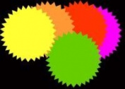 NeoPlex 10cm x 10cm Round Neon Star Card