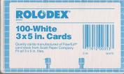 Rolodex 100 White 7.6cm x 13cm Cards. Authentic Rolodex 7.6cm x 13cm cards. C-35.
