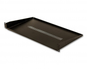 "NavePoint Cantilever Server Shelf Vented Shelves Rack Mount 19"" 1U Black 10"" (250mm) deep"