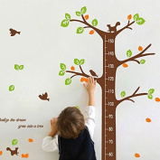 Qianxing Removable Wiederverwandbares Height Wall Picture in Animal Design Series Cartoon Animal Baby Height Chart Measure Decal for Living Room and Bedroom Decoration Wall Sticker Wall Paper Wall sticker in Various Sizes and Designs, Multi-Coloured