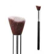 SONGQEE(TM) Professional Cosmetic Brush Face/Eye Makeup Blusher Powder Foundation Tool Small Angled Flat Wood+Aluminium