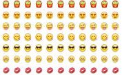 Emoji 0.7 cm Nail Decals