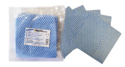 Tiga-Med Original Absorbent Multi-Purpose Cleaning Cloths, Single Use Pack of 100 Blue / White