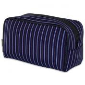 JODA Mens Black, Blue and Red stripe Boxy Travel Toiletry Wash Bag 905-986-R