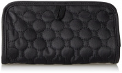 Travelon Jewellery and Cosmetic Clutch With Centre Pouch, Black Quilted, One Size