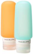 Travelon Set Of 2 Smart Tubes, 90ml, Orange/Blue, One Size