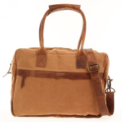 weekender Leconi leather canvas shopper bag LE2007-C