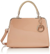 MG Collection Matana Trendy PU Leather Doctor Style Shoulder Bag, Nude, One Size