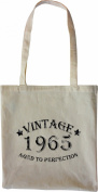 Mister Merchandise Tote Bag Vintage 1965 - Aged to Perfection 50 51 Shopper Shopping , Colour