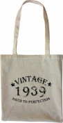 Mister Merchandise Tote Bag Vintage 1939 - Aged to Perfection 76 77 Shopper Shopping , Colour