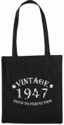 Mister Merchandise Tote Bag Vintage 1947 - Aged to Perfection 68 69 Shopper Shopping , Colour