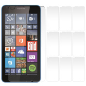 iGloo 10 Pack LCD Screen Protector Guard Covers for the Microsoft Lumia 640 / LTE / Dual Sim Mobile Phone