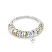 'Message From The Heart' Daughter Beaded Bracelet by The Bradford Exchange