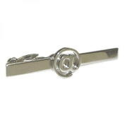 Silver Computer @ Sign Tie Clip Technology IT Work Gift Bar Pin Executive New
