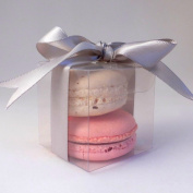 Clear Square Macaroon Boxes - pack of 25