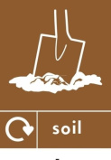 SOIL RECYCLING SIGN - Self adhesive vinyl 150mm x 100mm
