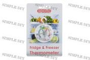 Fridge Freezer Thermometer Dial Temperature Gauge Kitchen Appliance Hanging Hook