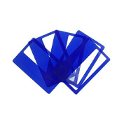 Credit Card Magnifiers 3x Magnification Semi-rigid Blue 0.5mm Thin