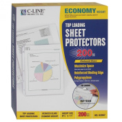 C-Line Top Loading Economy Weight Poly Sheet Protectors, Reduced Glare, 22cm x 28cm , 200 per Box
