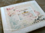 Luxury Boxed & Personalised Vintage Shabby Rose Wedding Guest Book