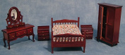 1/12th Scale Mahogany Bedroom Set for Dolls House