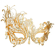 Coofit® Diamante Luxury Venetian Style Metal with Rhinestone Filigree Masquerade Mask Prom Dress