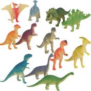 Plastic Model Jurassic Dinosaur Figures Kids Toy Set of 12pcs Multi-colour