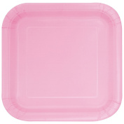 Unique Party 23 cm Square Lovely Pink Party Plates