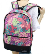 Newspaper/Geometry/Leaf/Wallpaper Pattern Canvas Backpack Students School Bag 36cm - 38cm Laptop Backpack for Teenage Girls and Boys (Red