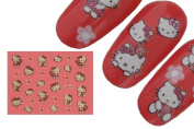 Effect Beauty Hello Kitty Nail Art Stickers - Teddy Bear Kitty - XF313