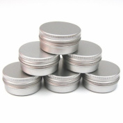 20 x 15ml Aluminium Lip Balm Pots 15ml Capacity Empty Small Mini Cosmetic/Lip Gloss/Nail Art Pots Tins Jars