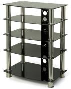 Black Glass Hi-Fi/TV Stand