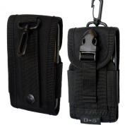 Black Universal Army Camo Camouflage Cordura Carabiner Clip Tactical Belt Loop Hip Holster Pouch Case Mobile Phone Cover For Nokia Lumia HTC One X M8 M2 Blackberry Bold Curve 9220 9320 Apple iPhone 4s 4 5c 5c for  for  for  for  for  for  for  for  for Sa