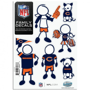 NFL Small Family Car Decal Sheets