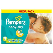 Pampers Baby Dry Size 4 (7-18kg) Mega Box 86 per pack