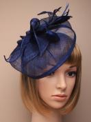 Allsorts® Large Navy Blue Hat Fascinator Weddings Ladies Day Race Royal Ascot