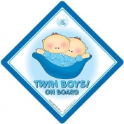 Twin Boys On Board Car Sign, Blue Peapod, Twins on Board, Twins on Board Sign, Baby on Board Sign, baby on board, Twins Car Signs, Baby on Board Car Signs